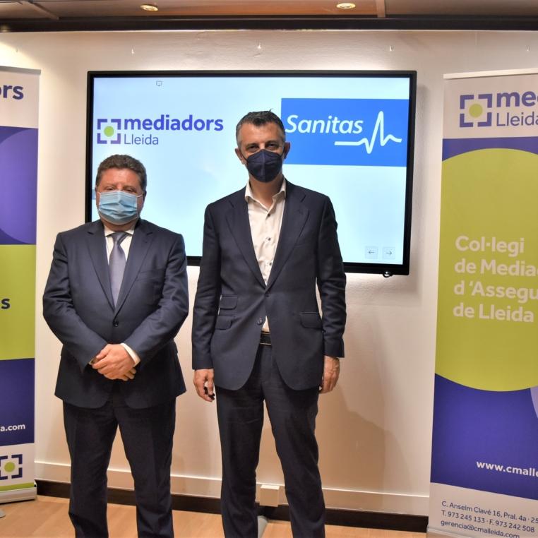 Conveni Col·legi Lleida i Sanitas Javier Barberá i Israel Ranero
